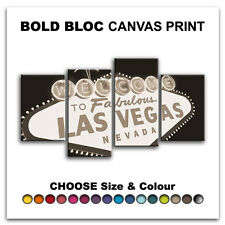 Las Vegas Sign CITY  Canvas Art Print Box Framed Picture Wall Hanging BBD