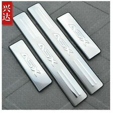 MITSUBISHI ASX RVR LANCER 2011-15 SET OF 4 DOOR SILL GUARD SCUFF STAINLESS STEEL