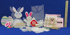 Plastic Mesh Tissue Box Easter Bunny Christmas Ornaments Kit Started No Patterns