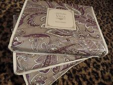Noble Excellence Villa Sham KING Purple Gray Paisley San Matteo Pillow Case NEW