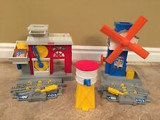 GEOTRAX  GEOMOTION WORKING TOWN FACTORY, WIND MILL FACTORY & WATER TOWER EUC