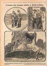 Ruines Fort Bataille Sedd-Ul-Bahr Australia Army Gallipoli Dardanelles WWI 1915