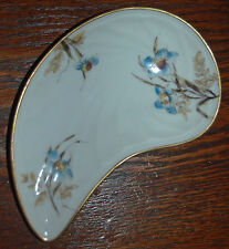 BEAUTIFUL ANTIQUE CHARLES FIELD HAVILAND LIMOGES BONE DISH -OYSTER SHAPED FLORAL