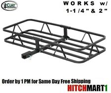 "CURT TRAILER HITCH MOUNT CARGO RACK BASKET CARRIER FOR 1 1/4 & 2"" RECEIVER 18145"