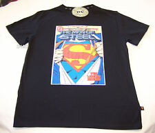 Superman Man Of Steel #1 Comic Cover Mens Black Printed T Shirt Size XS New