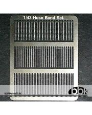 1/43 HOSE BAND SET STAINLESS diam 3.5mm max, SINGLE DITCHED TYPE fo BOSICA TAMEO