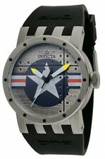Invicta Men's 11649 DNA Bomber Silver Dial Black Silicone Watch