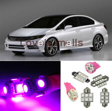 6 Pink Interior Light Package Combo for 2006 2007 2008 2009-2012 Honda Civic