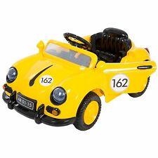 Lil Rider 58 Yellow Speedster Vintage Battery Operated Car with Remote Aux Mp3