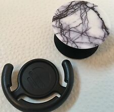 Marble Expanding PopSocket Style Phone Grip Stand w/ Holder For Tablet Car