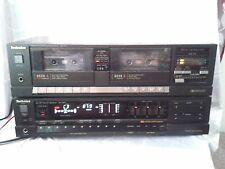 "Technics receiver SA-R210 And Technics Stereo Dual Cassette Deck RS-T911 ""JAPAN"""