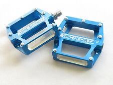 """TMC Blau Alloy Fahrrad Pedale 9/16"""" MTB BMX Platform Pedale Fahrrad Pedale"""