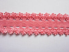 "5y frilly edge stretch 7/8"" lace elastic headbands-Coral L027"