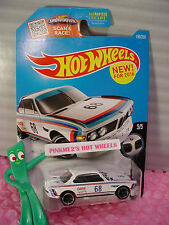 Case J 2016 Hot Wheels '73 BMW 3.0 CSL RACE CAR #190✰White; Castrol 68✰BMW