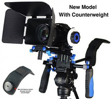Eimo DSLR RIG SHOULDER Mount FOLLOW FOCUS CON SCATOLA Opaco per tutte le fotocamere e video