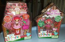 Lalaloopsy Doll Minis Toffee Cocoa Cuddles & Choco Whirl Swirl Lot of 2 Retired