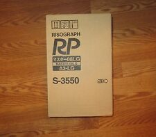 New 2 Genuine OEM Riso S-3550 Masters Risograph RP3700 RP3790 RP08 08LG A3*