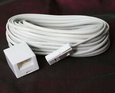 TELEPHONE EXTENSION CABLE LEAD CORD FOR ALL PHONE LINES BT UK CABLES 10m  METRE