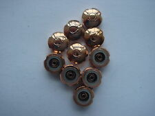 Omegas crowns NOS for Sea master type Pink(rose goldfill 10 pieces big size NICE
