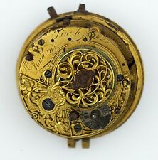 R FINCH LONDON VERGE REPEATER POCKET WATCH MOVEMENT FOR SPARES REPAIR TT17