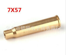 Bullet Shaped CAL 7X57R Brass Cartridge Red Laser Bore Sighter Copper