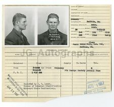 "Police Booking Sheet - Loyd Shoppe [?]/""Escape"" - Missouri, 1957"