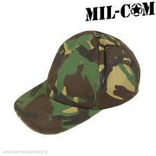 Mil-Com Esercito Mimetico CAPPELLINO Stile Militare WOODLAND Mimetico Cappello