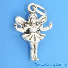 FAIRY FARIES NYMPH with WINGS 3D .925 Solid Sterling Silver Charm