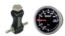 Controlador de refuerzo de manual Turbosmart Negro y Turbosmart 52mm Boost Gauge Psi