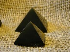 Shungite pyramid set of 2 pieces of Karelia magic stone.