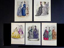 5 Antique (1856-73)Plates from Le Moniteur Des Dames et Des Demoiselles INV 2010
