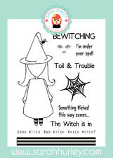 Sarah Hurley Doodle Doll Halloween - Witch Girl Stamp Set