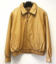mens genuine leather bomber jacket size XL