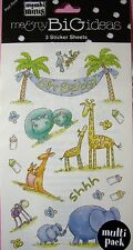 NEW OH BABY Mother Child Animals Bottles ME & MY BIG IDEAS MAMBI MINIS Stickers