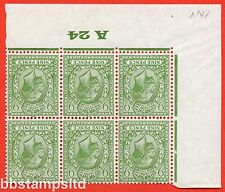 SG. 427 wi. N43 (1). 9d Olive green. A fine UNMOUNTED MINT control A24 Imperf