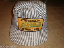 PORT STANLEY TERMINAL RAIL TRAIN - ADJUSTABLE SIZE CAP HAT  VICTORY CAP - CANADA
