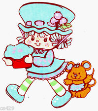 "5.5"" STRAWBERRY SHORTCAKE BLUEBERRY MUFFIN WALL SAFE FABRIC DECAL CUT OUT"