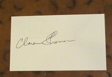 Supreme Court Justice Clarence Thomas signed autographed index card conservative