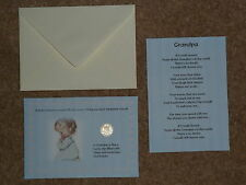 GRANDPA PRESENT/GIFT LUCKY SIXPENCE & POEM IDEAL KEEPSAKE