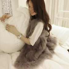 Women Ladies Faux Fur Shaggy Vest Sleeveless Outerwear Long Waistcoat 2016 Vogue