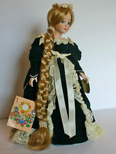 "Rapunzel Doll 15"" Hand Painted Porcelain from Duck House Limited Ed Velvet Lace"