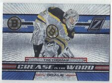 TIM THOMAS BOSTON BRUINS GOALIE 2010-11 ZENITH CREASE IS THE WORD #2