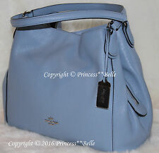 NWT! COACH Edie 31 Shoulder Hobo Bag Leather Handbag Purse Cornflower Blue