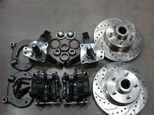 "MUSTANG II FRONT 11"" DRILLED CHEVY ROTOR DISC BRAKE STOCK SPINDLE FREE SS LINES"