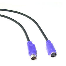15Ft Mini Din 6pin Male to Female PS2 PS/2 Extension Cable - Keyboard Mouse KVM