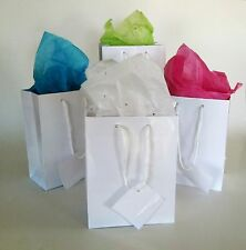 Wholesale lot 60 Small Glossy White Gift Bags Wedding Party Favors