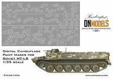 Digital Paint Masks for Ukrainian MT-LB 1/35 Camo & Flags for Trumpeter 05578