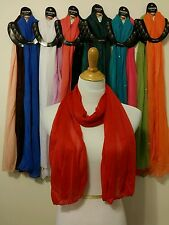 Hot Solid Wholesale 12pc LOT Polyester Long Scarf Stole Wrap Women scarves