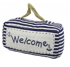 WELCOME Large Nautical Beach Themed Heavy Door Stop Seaside Shabby Chic NEW