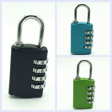 4 Dial Digit Combination Luggage Suitcase Metal Code Password Padlock Lock New